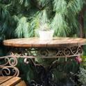 Кованый столик и лавочка