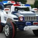 Детский электромобиль JEEP AUTO полицейский внедорожник.