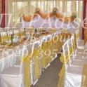 Офомление свадеб воздушными шарами, тканями ицветами
