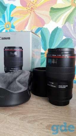 Продам объектив Canon MACRO 100 mm, фотография 2