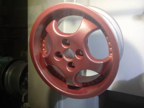 Полимерная порошковая покраска  автомобильных дисков, фотография 5