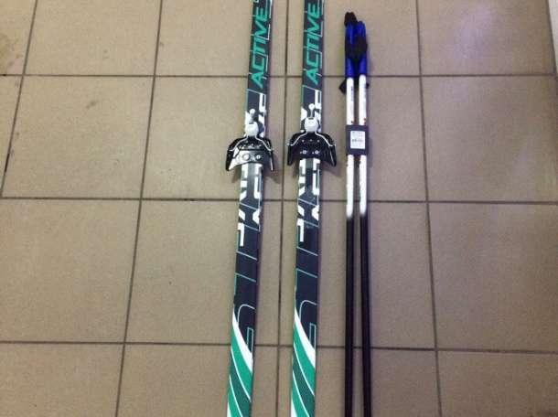 Лыжный комплект на 75 мм (лыжи, палки, крепление), фотография 1