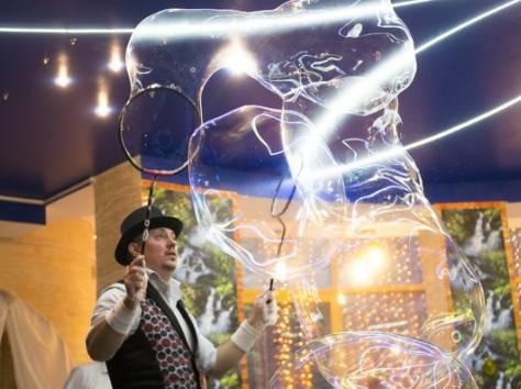 Шоу гигантских мыльных пузырей на свадьбу, фотография 6