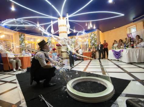 Шоу гигантских мыльных пузырей на свадьбу, фотография 9