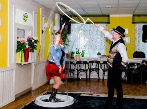 Шоу гигантских мыльных пузырей на свадьбу, фотография 12