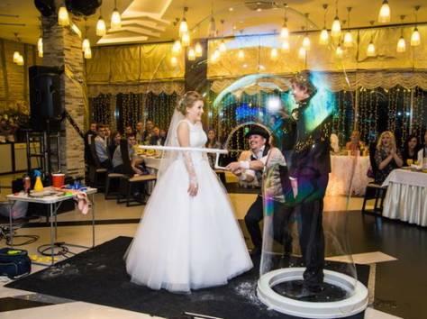Шоу гигантских мыльных пузырей на свадьбу, фотография 3