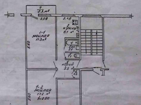 Продаётся 2-х комнатная квартира в 3 м-не в г.Светлогорске, фотография 1