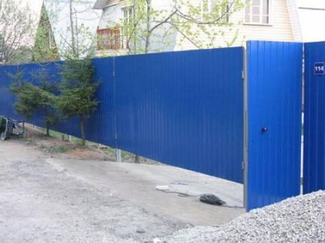 УСТАНОВКА под ключ заборов и ворот из профнастила, фотография 3