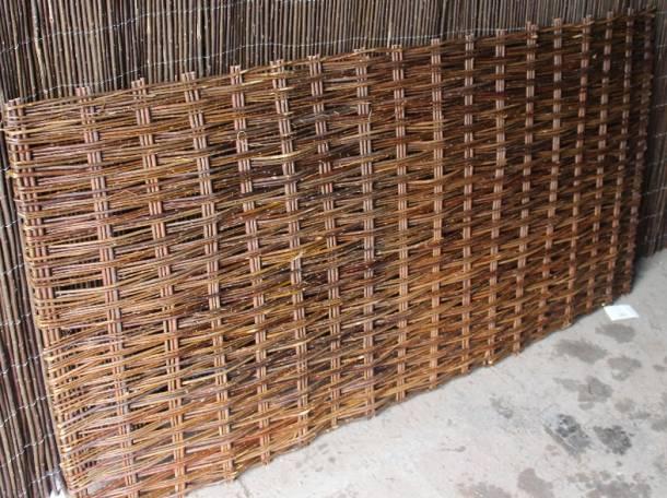 Плетеная ширма из ивовых прутьев, фотография 1