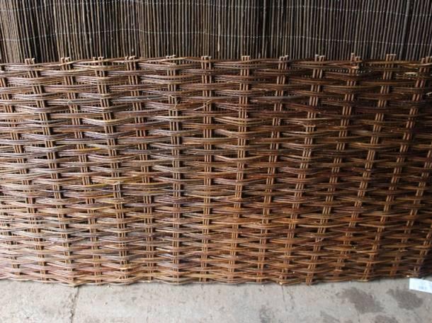 Плетеная ширма из ивовых прутьев, фотография 2
