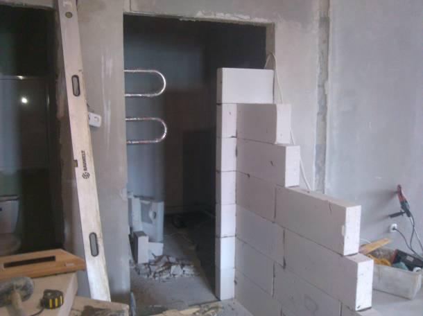 Как сделать перегородку из кирпича с дверным проемом