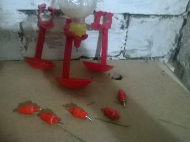 Ниппельные поилки для кроликов/шиншилл/перепелов/птиц, фотография 3
