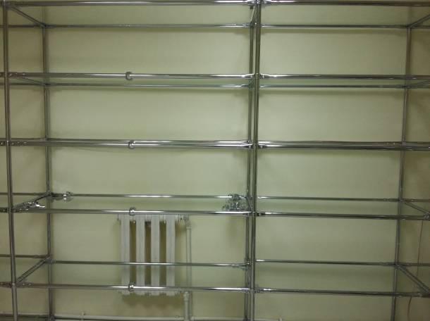 Стеллажи, трубы, крепления для стеллажей, фотография 2