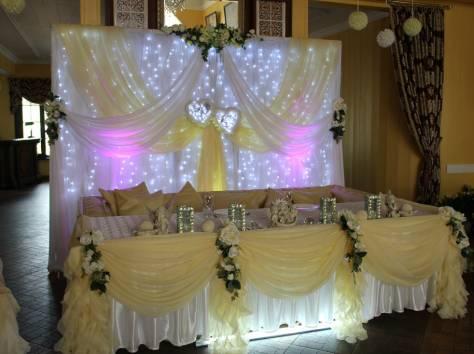 украшение зала на свадьбу, фотография 1