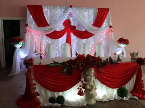 украшение зала на свадьбу, фотография 3