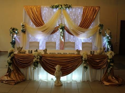украшение зала на свадьбу, фотография 5