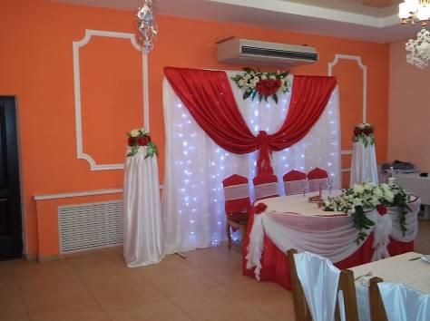 украшение зала на свадьбу, фотография 7