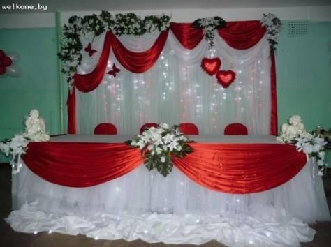 украшение зала на свадьбу, фотография 8