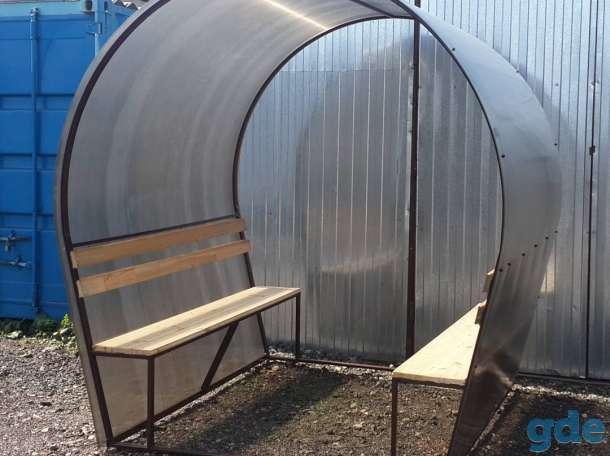 Беседки металлические для отдыха и мест для курения., фотография 2