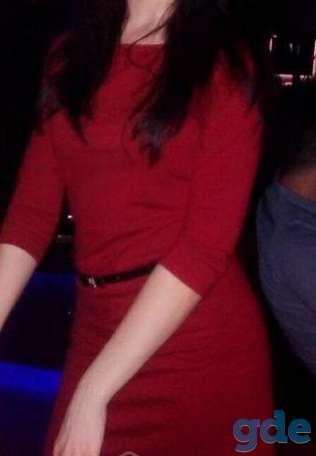 Платье бордовое с рукавом, фотография 1