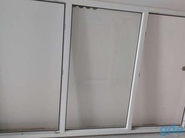 Балконная рама ПВХ на балкон с 3-мя окнами-1шт, б.у, фотография 3