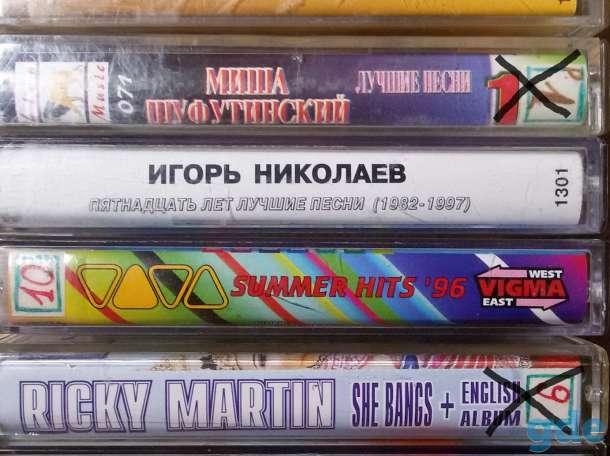 Аудио кассеты с записями, б.у, фотография 2