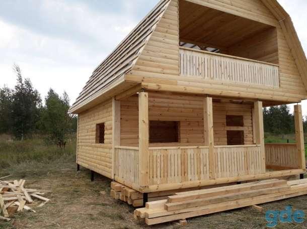 Дом из бруса сруб 6×8 установка в Молодечно, фотография 4