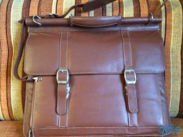 Кожаный деловой портфель, фотография 1