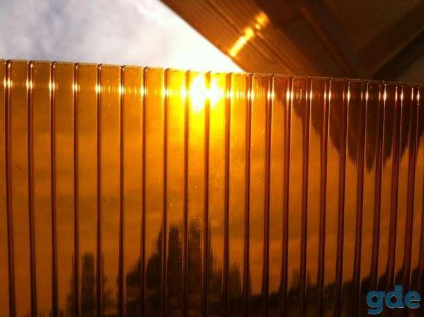 Сотовый поликарбонат для Теплиц, Навесов и козырьков. 4,6,8,10 мм. 2-ая УФ защита. Гарантия. Все цвета. Доставка по РБ., фотография 6