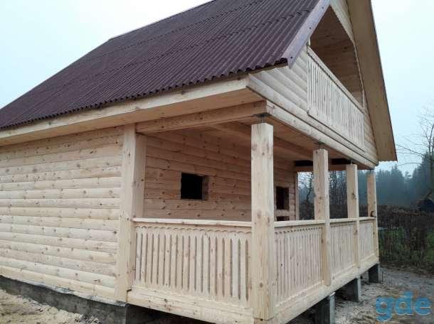 Дом с баней из профбруса проект Юля 6х4м построим в Вилейке и районе, фотография 1
