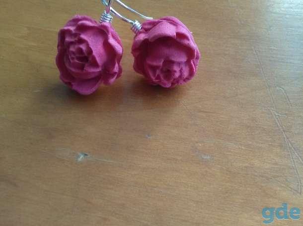 Сережки из полимерной глины, фотография 3