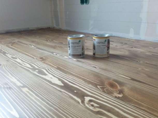 Шлифовка и тонировка деревянного пола, масло-воск OSMO., фотография 2