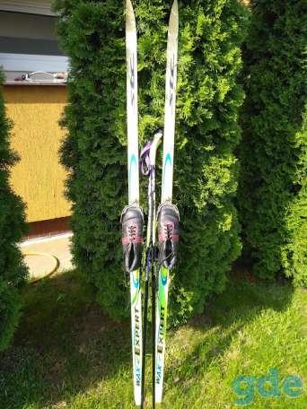 Лыжи беговые STC 180 +палки +ботинки(кожа), фотография 1