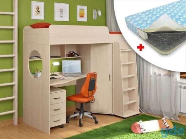 Прекрасная кровать-чердак для ребёнка в Мядель, фотография 1