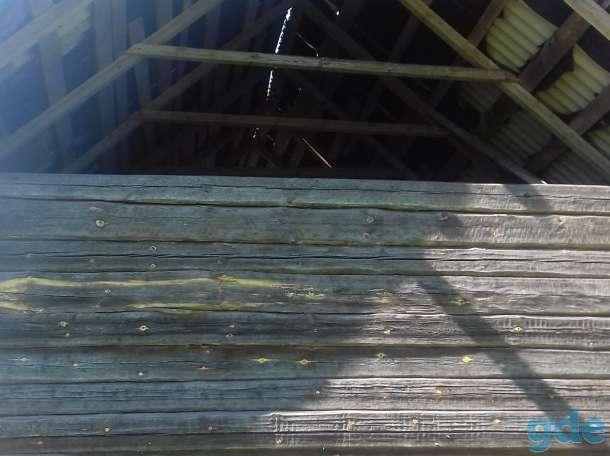 Сруб 6х12 м со стропильной системой, шифером, фундаментными блоками, фотография 2