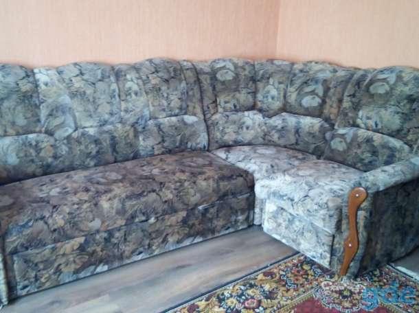 Продам угловой диван + кресло (комплект) б/у, фотография 1