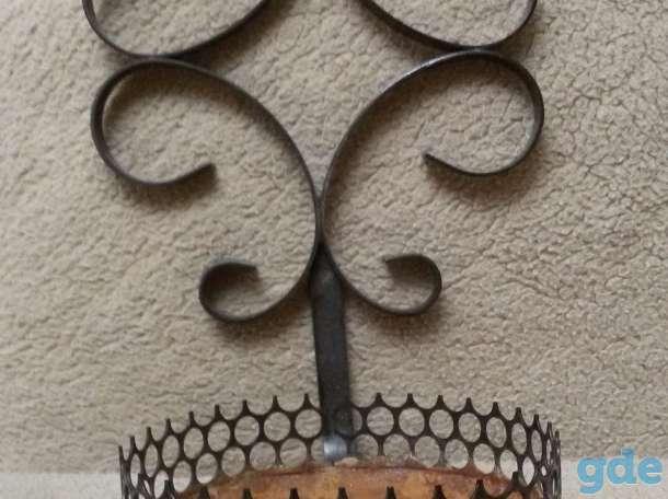Подставки цветочные, б.у-3шт, железные, фотография 1