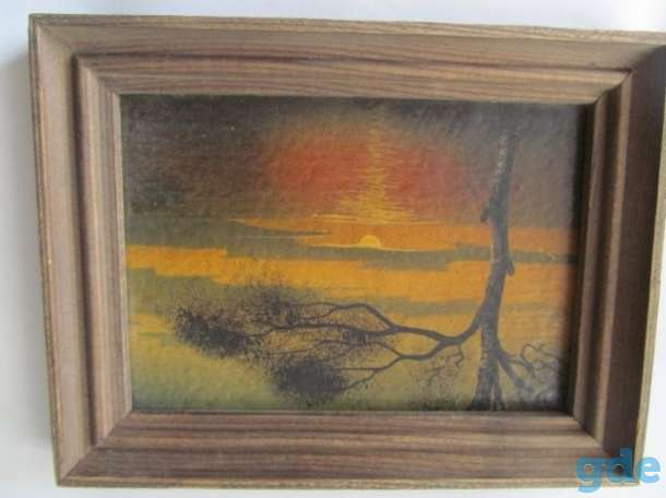 Картины репродукции в деревянных рамках для интерьера, фотография 1