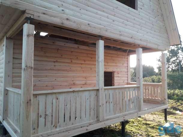 Построим Дом из профилированного бруса проект Алексей 6х6м в Калинковичах, фотография 3