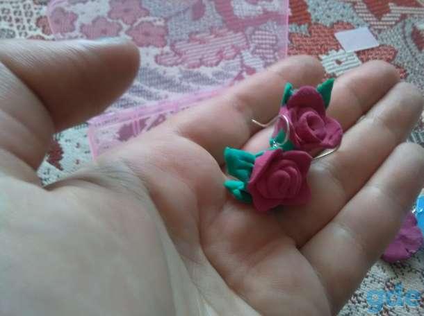 Сережки из полимерной глины, фотография 1