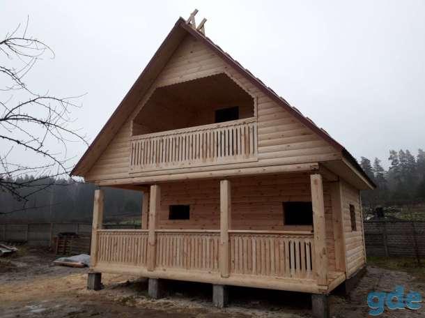 Дом с баней из профбруса проект Юля 6х4м построим в Вилейке и районе, фотография 2