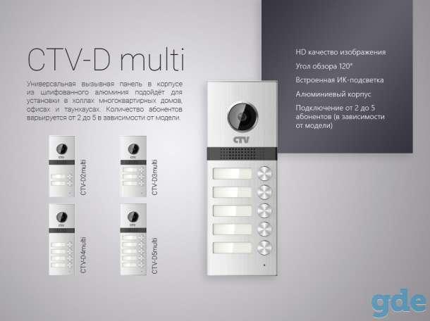 Вызывные панели для видеодомофона CTV-D Multi на 2-5 абонентов, фотография 7
