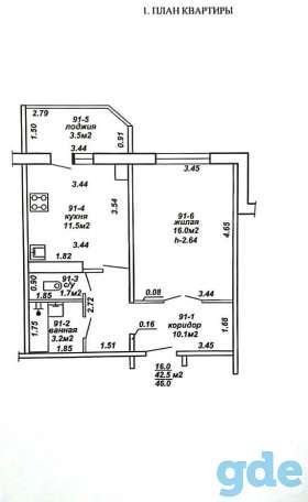 Продам 1/2 долю квартиры 2015 года постройки, фотография 2