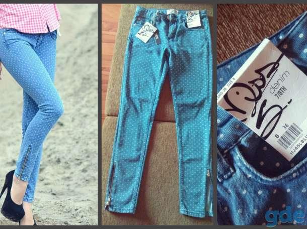 Модные джинсовые штаны, не б/у., фотография 1