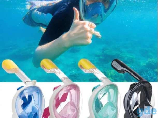 Маска для снорклинга полнолицевая для подводного плавания, фотография 3