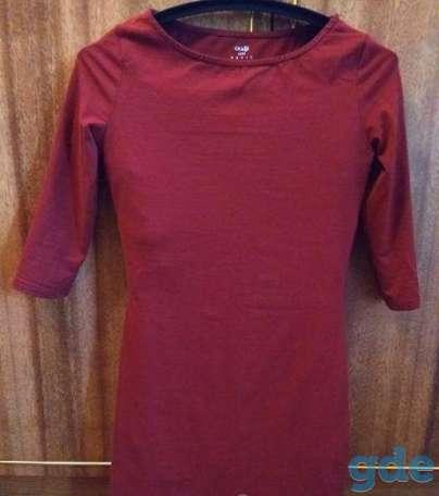 Платье бордовое с рукавом, фотография 4