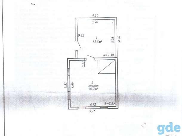 Продается ветхий дом 36 кв.м общей площадью с земельным участком 15 соток в агрогородке Красное Осип. р-на, фотография 2